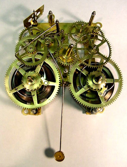 Clock Gears Diagram Clock movement restoration